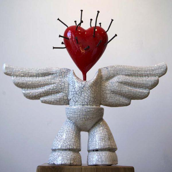 Angelum Cicaro | Hoogte: 43 cm | Keramiek en PU | Oplage: 8 + 2 AE