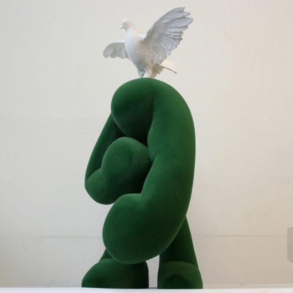 AllMoss | polymeer en flock | hoogte : 110 cm