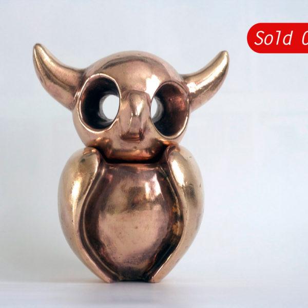 Uiltje | Hoogte 17 cm | brons