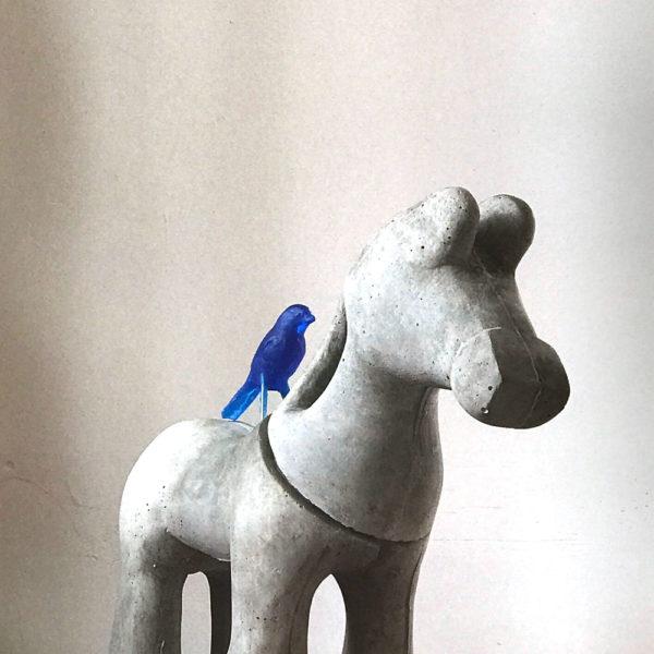 Z'n Paard | beton en epoxy | hoogte 52 cm
