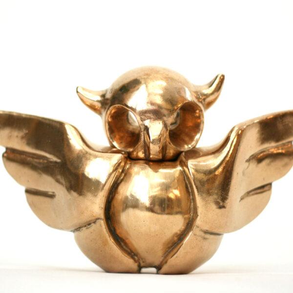 Uiltje 2.0 | gepolijst brons | hoogte 16 cm breedte 25 cm