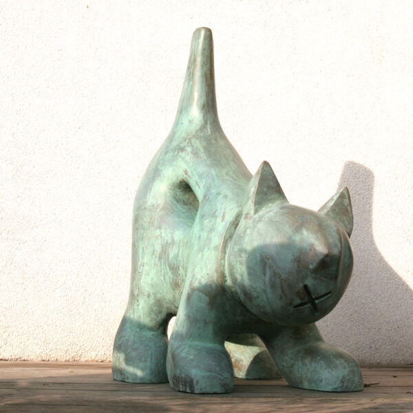 Poes | materiaal: brons | hoogte: 95 cm